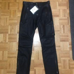 BNWT men's acne studios leather pants size 46
